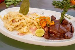 Fetuccini con Filet Mignon