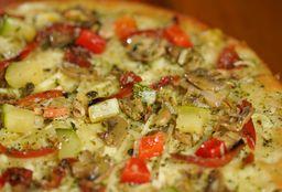 Pizza Vegetariana Familiar + pan al ajo + gaseosa de 1 litro