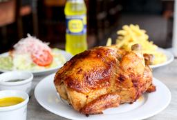Pollo a la Brasa + Guarniciones + Gaseosa