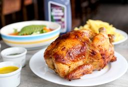 Pollo a la Brasa + Guarniciones + Chicha