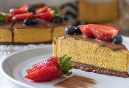 Cheesecake de Chocolúcuma Vegano