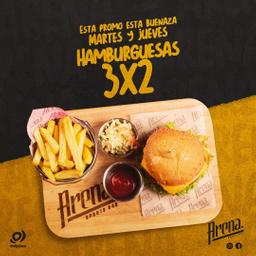 3x2 Hamburguesa Amistosa