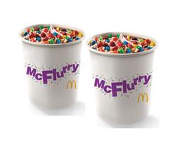 2 McFlurry XXL Mini M&M