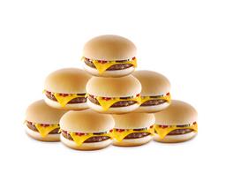 8 Hamburguesas con queso