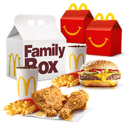 Family Box Feliz: 2 combos + 2 Cajitas Feliz