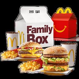 Family Box Feliz: 2 combos + 1 Cajita Feliz