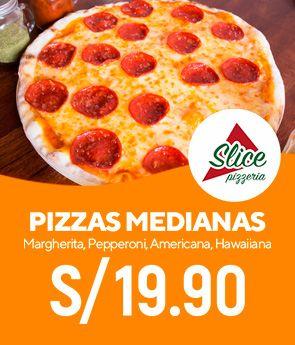 Pizzas Medianas a 19.90